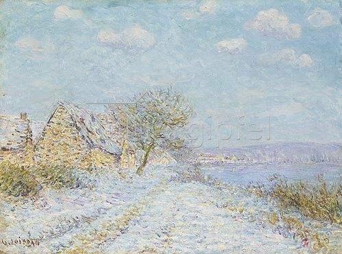 Gustave Loiseau: Am Seine-Ufer. Schnee, Raureif und Sonnenschein.