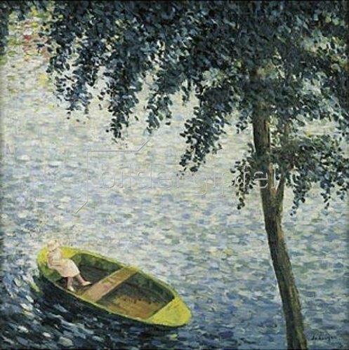 Henri Lebasque: Mädchen in einem Ruderboot. Um 1920