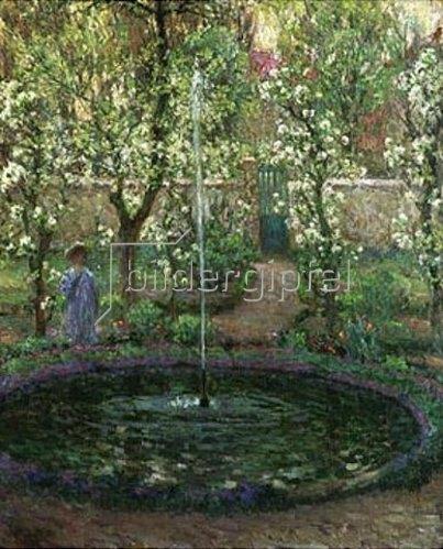 Henri Le Sidaner: Der Springbrunnen. 1905