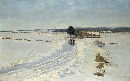 Sigvard Marius Hansen: Ein Wintermorgen. 1888