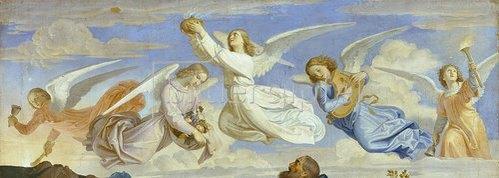 Joseph Ritter von Führich: Der Traum des heiligen Isidor (Detail). 1839
