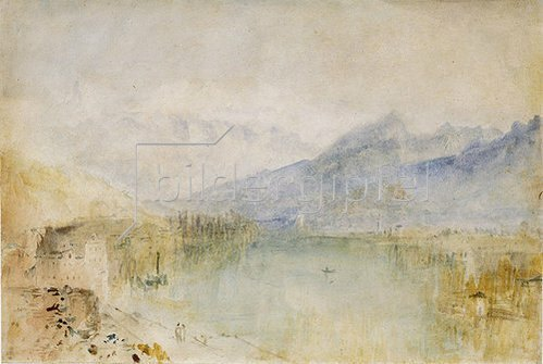Joseph Mallord William Turner: Thunersee. Um 1844