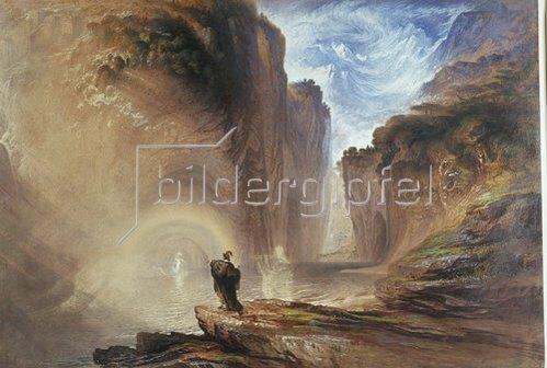 John Martin: Manfred und die Alpenhexe. 1837.