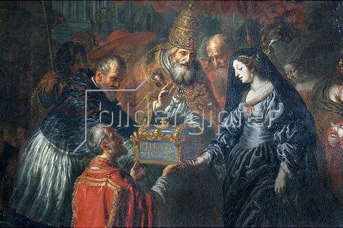 Joachim von Sandrart: Papst Urban VIII. übergibt die Reliquien des hl. Julian an Erzherzogin Claudia.