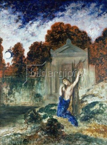 Gustave Moreau: Orpheus am Grabe Eurydikes. 1890.