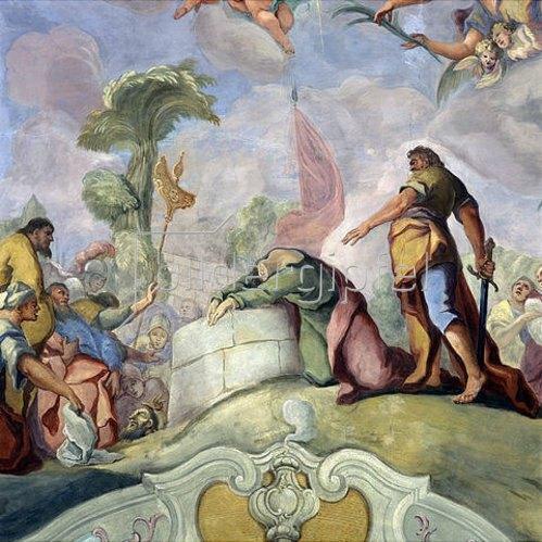 Otto Gebhard: Enthauptung des hl. Paulus. 1764