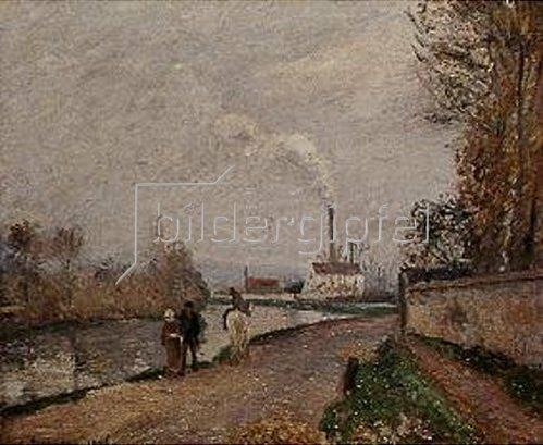 Camille Pissarro: Die Oise bei Pontoise. 1876.