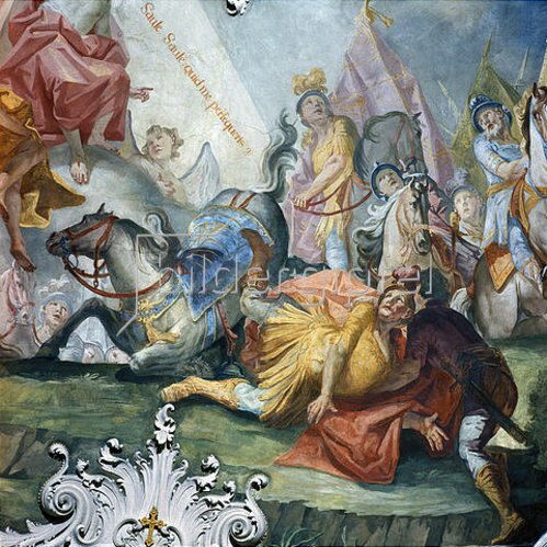Matthäus Günther: Bekehrung des hl. Paulus vor Damaskus. 1740