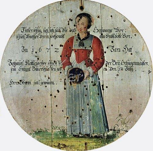 Unbekannter Künstler: Schützenscheibe. 1672