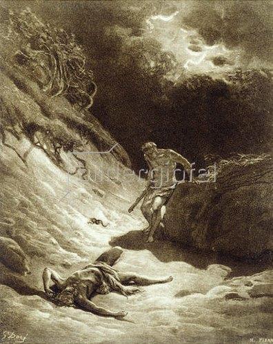 Gustave Doré: Kain erschlägt Abel. 1866