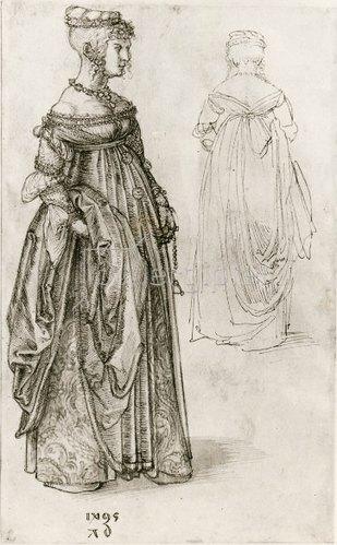 Albrecht Dürer: Frau in venezianischem Kostüm, 1495