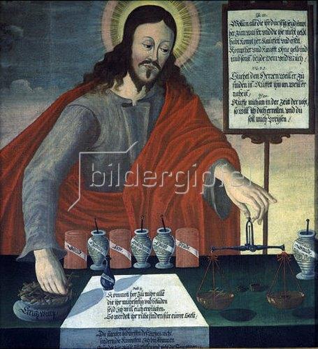 Unbekannter Künstler: Christus als Apotheker.