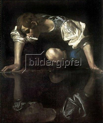 Michelangelo Merisi da Caravaggio: Narziss. Wohl um 1600