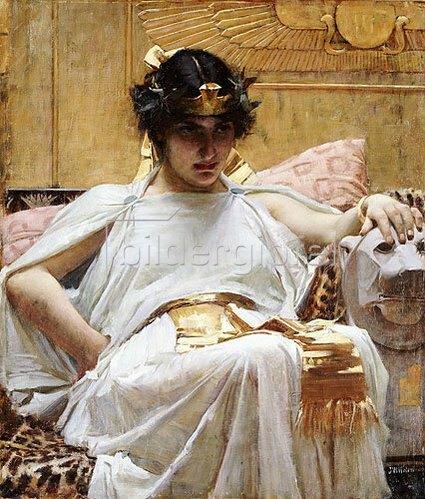 John William Waterhouse: Kleopatra. Um 1887