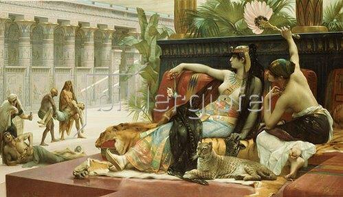 Alexandre Cabanel: Kleopatra testet das Gift an zum Tode Verurteilten.