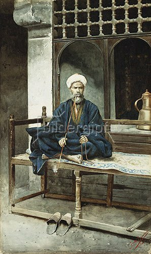 Giuseppe Signorini: Ein Araber mit Gebetskette und Pfeife.