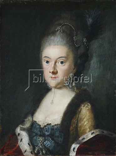 Johann Ernst Heinsius: Anna Amalia Herzogin von Sachsen-Weimar-Eisenach. Um 1780