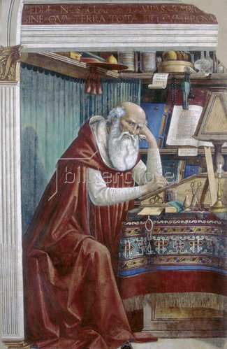 Domenico(T.Bigordi) Ghirlandaio: Der heilige Hieronymus. Um 1480