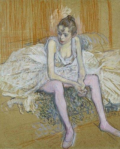 Henri de Toulouse-Lautrec: Sitzende Tänzerin. 1890