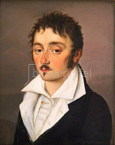 Unbekannter Künstler: Georg Büchner (1813 - 1837). Ca. 1836