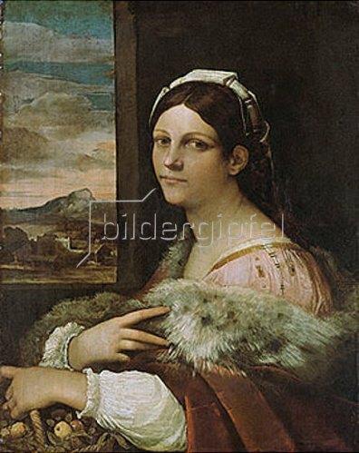 Sebastiano del Piombo: Bildnis einer jungen Römerin. Um 1512/13