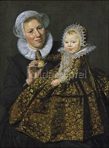 Frans Hals: Catharina Hooft mit ihrer Amme (Die Amme mit dem Kind). Um 1619/20