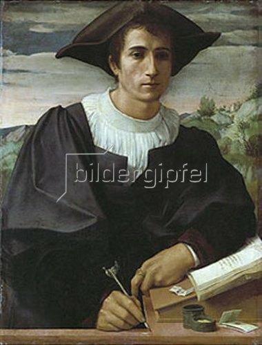 Franciabigio (Francesco di Cristofano): Bildnis eines jungen Mannes (Matteo Sofferoni?). 1522