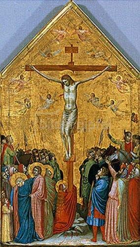 Giotto di Bondone: Die Kreuzigung Christi.