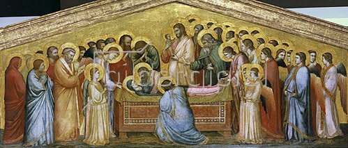 Giotto di Bondone: Die Grablegung Mariae. Um 1310