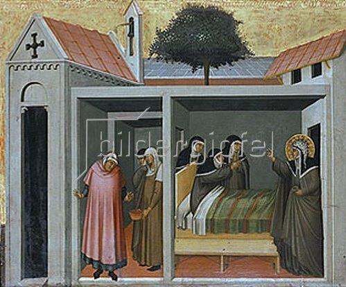 Pietro Lorenzetti: Die hl. Humilitas heilt eine kranke Nonne.