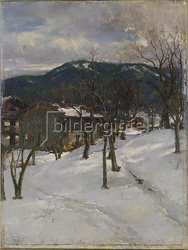 Johann Sperl: Winterlandschaft bei Kuttering. 1899.