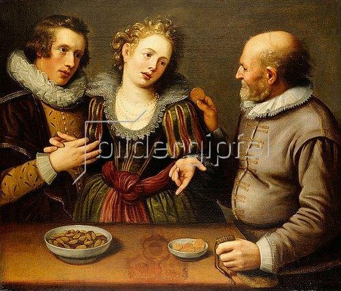 Jakob II. de Gheyn: Das ungleiche Paar.