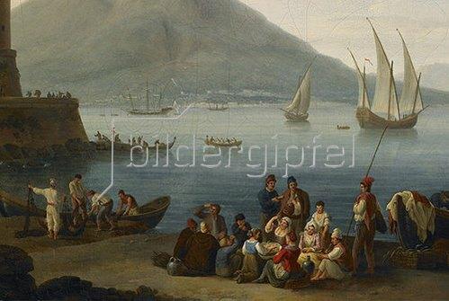 Jacob Philipp Hackert: Hafen von Neapel (Detail). 1771
