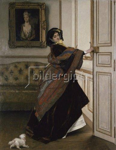 Alfred Stevens: Veux-tu sortir avec moi, Fido?. 1859.