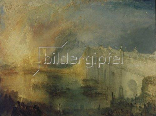 Joseph Mallord William Turner: Der Brand des Parlamentsgebäudes.