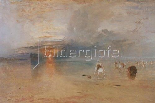 Joseph Mallord William Turner: Strand bei Calais, Fischerfrauen sammeln Köder ein. 1830.