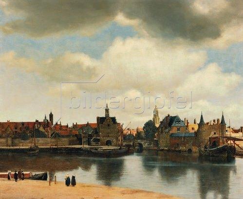 Jan Vermeer van Delft: Ansicht der Stadt Delft. Um 1660