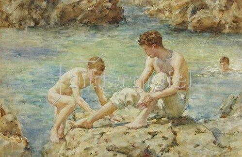 Henry Scott Tuke: Badende. 1922