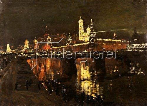 Isaak Iljitsch Lewitan: Der beleuchtete Moskauer Kreml. 1896