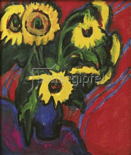 Ernst Ludwig Kirchner: Sonnenblummen. 1909/18