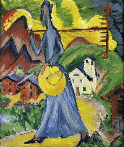 Ernst Ludwig Kirchner: Alpleben (Seitentafel eines Triptychons). 1918