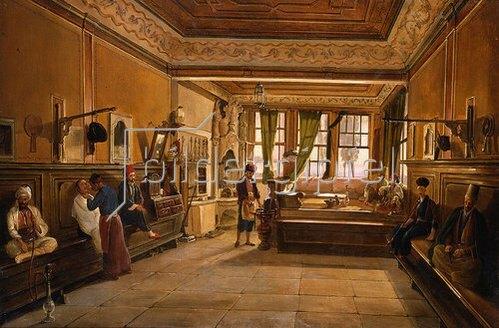 Frans Vervloet: Beim Frisör, Konstantinopel. 1863
