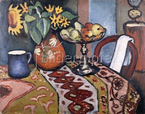 August Macke: Stilleben mit Sonnenblumen II. 1911