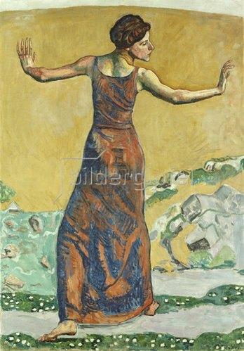 Ferdinand Hodler: Femme Joyeuse. 1911