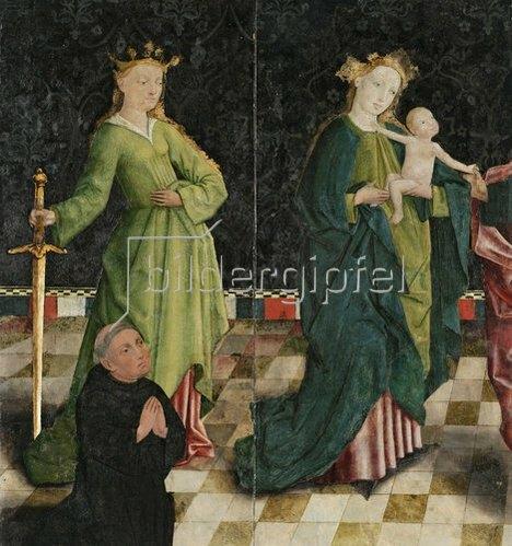 Unbekannter Künstler: Muttergottes mit Hl. Katharina und Stifter. Um 1470