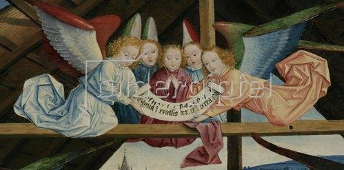 Derick Baegert: Anbetung des Kindes (Detail). 1480