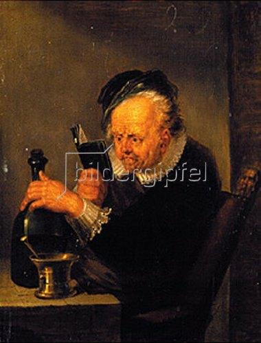 Johann Peter von Langer: Der lesende Chemiker.