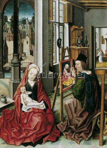 Derick Baegert: Der Evangelist Lukas malt die Muttergottes. Um 1485