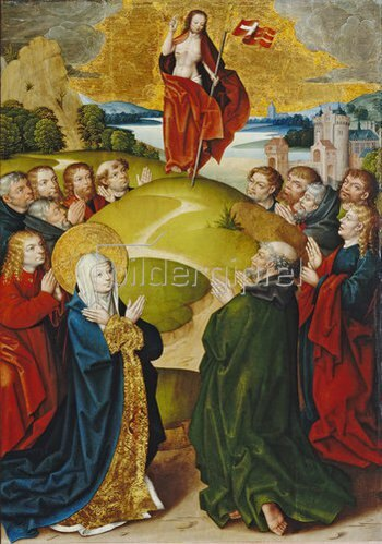 Jan Baegert: Altar aus der Kirchspielkirche in Liesborn. Himmelfahrt Christi. 1517/22