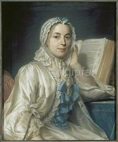 Maurice Quentin de La Tour: Mademoiselle Ferrand meditiert über Newton.
